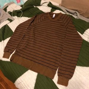 American Apparel striped crew neck sweater